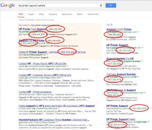 Google Search HP Support